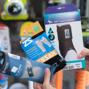 specialty ankle stabilization products available in kansas city at the running well store