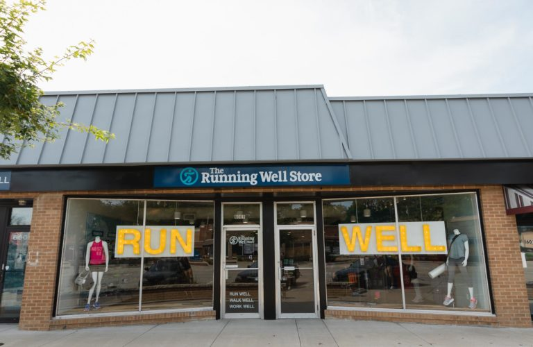 front of running well store in mission kansas