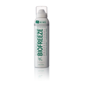 cut out image of biofreeze foot spray