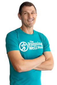 the running well store employee on cut out background