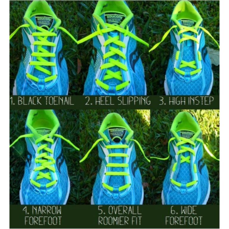 Different ways to tie your shoe laces and each one has an impact on how your foot feels in the running shoe